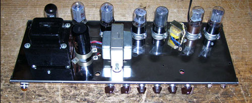 Guitar amp with octal tubes